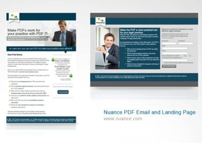 Nuance Email and Landing Page